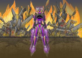Assassin Droid 45 (colour + background) by txy45