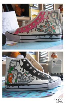 costumized shoes part 2 of 4 by Toki-MMMC