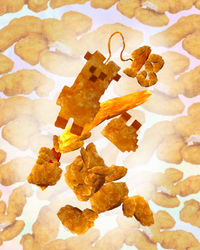 Happy chicken nugget chicken nugget chicken nugget by Shadow--Flareon