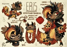 Eris Ref. Sheet [Commission w/ Outfit Design] by Baraayas