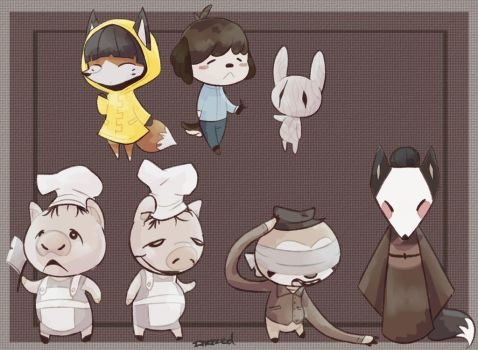 Little Nightmares X Animal Crossing by CosmoMoonKitty9001