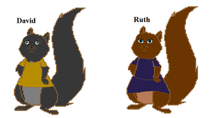 the Squirrel kids David and Ruth by heart8822