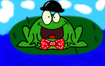 Fancy Frog on a LilyPad by DJFLuFFy-vs-joe