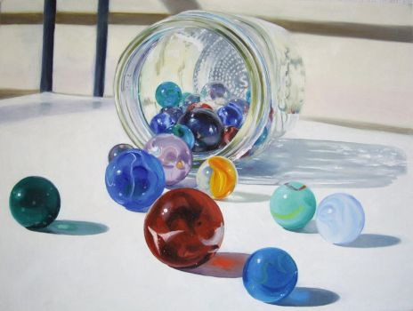 Jar of Marbles by pixyartist