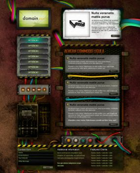 Web electric v2 template PSD by cifra