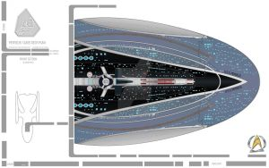 USS PERSEUS Soucer Hull Section WIP by LillithsBernard