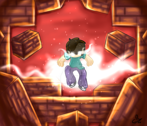 Mr Herobrine Fan Art ~ Fateful day by NaviPixels