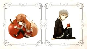 Spice and Wolf Wallpaper 2 by Blackmagepaine