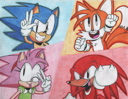 Sonic: The Classic Crew by BriannaTheBlackCat
