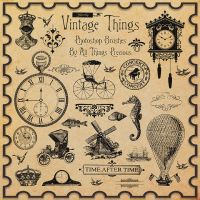 Vintage Things Brushes by AllThingsPrecious
