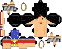 CubeeCraft DC Super Heroes Wonder Woman by handita2006