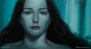 Tears of Arwen - Oil Painting by Qinni