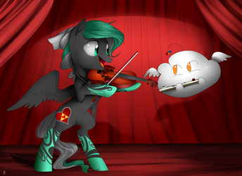 Magical Duet - Commission 2 from supermare by SharionDragon