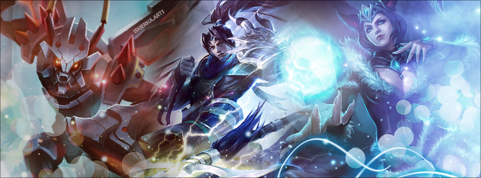 Ahri KhaZix League of Legends Facebook cover photo by Iskierka0