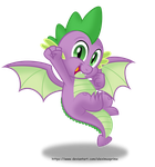 Spike with Wings by AleximusPrime