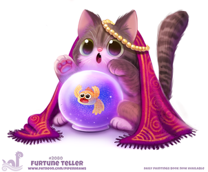 Daily Paint #2080. Furtune Teller by Cryptid-Creations