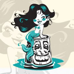 Mermaid and Tiki by CBeeProject