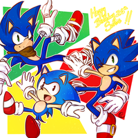 Sonic 26th anniversary  and SPEEDPAINT by Tsubaki977