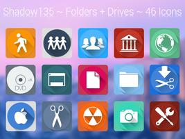 Shadow135 ~ Folders + Drives Icons by BlackVariant