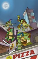 TMNT Pizza Night by BillWalko
