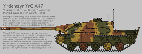 YrC A47 Tank Destroyer [Graphic Coloured] by SixthCircle