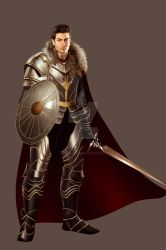 :Commission: Kendall Taune, Knight of the Dragon by TheSwanMaideN