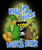 Drunk Duck SDCC party advertisement by JPurcell