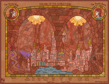 The Hall of the Scarlet King by Sapiento