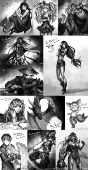 FICZONE 2014 free drawings by HellyonWhite
