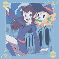 Akko and rowlet! by RilexLenov