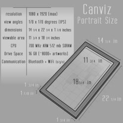 Canviz 22 Inch by canvizisart