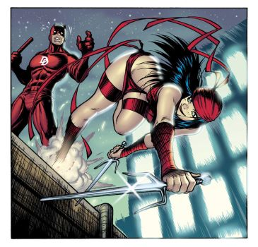 DAREDEVIL + ELEKTRA, colors by AdamWarren