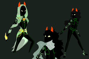 Homestuck Ancestor: The Huntress/Tzingara by mymidnightsnack