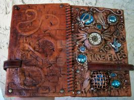 Front and back of journal by MandarinMoon