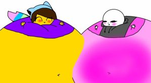 Request: inflated Carter and Galaxie by CarterTheEmolga