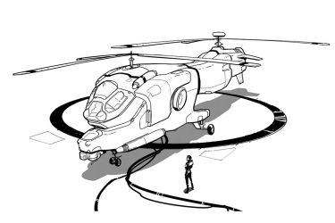 Inktober - Helicopter by Hideyoshi