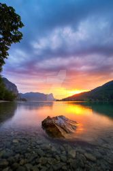 Cloudy sunset by photoplace