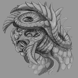 Spiral Horn Dragon by is-chimera
