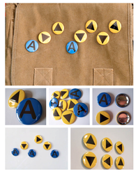 Zelda Ocarina Nintendo Notes Pinback Buttons by artshell