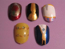 Beauty and the Beast Nails by hatterlet