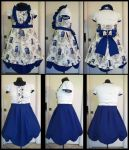 Commission: Blue Dr. Who Lolita Dress by Antiquity-Dreams