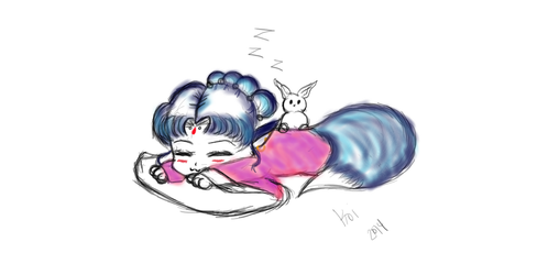 Sleepy Chibi Princess by Monrozay