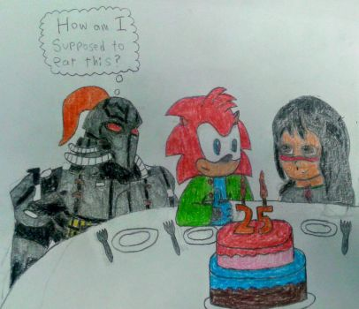 Lets have some cake [Birthday Gift] by Jo5hua-the-Hedgehog