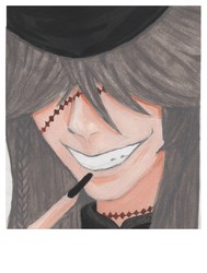 Watercolor Undertaker Poloroid by Raikeneko