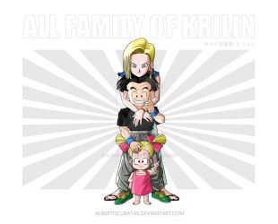 All family of Krilin by albertocubatas