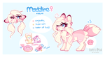 Madeline fursona ref 2018 by foxpets