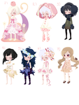 OPEN Adoptables batch 4 *free* by sarahpenny10