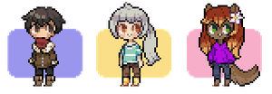 Pixel Icon Commishes 5 by Sergle
