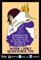 Ice King x Marceline (When I Don't Remember U) Rys by ErikReys