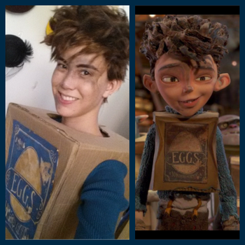 Eggs cosplay for The Boxtrolls by FreakZone13